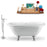 "Tub, Faucet and Tray Set Streamline 67"" Clawfoot NH1121CH-CH-140"