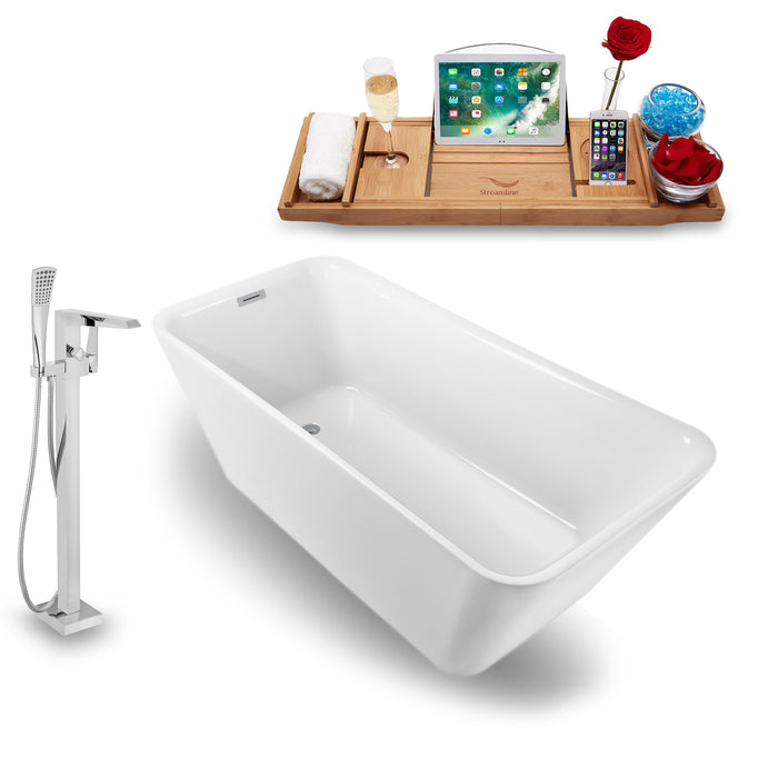 "Tub, Faucet and Tray Set Streamline 70"" Freestanding NH1220-100"