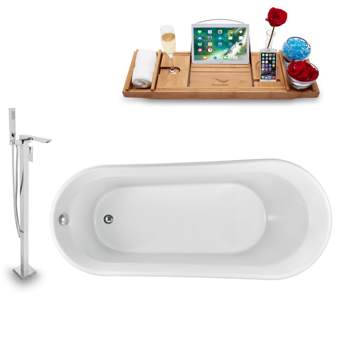 "Tub, Faucet and Tray Set Streamline 69"" Freestanding NH1522-140"