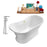 "Tub, Faucet and Tray Set Streamline 60"" Freestanding NH200GLD-120"