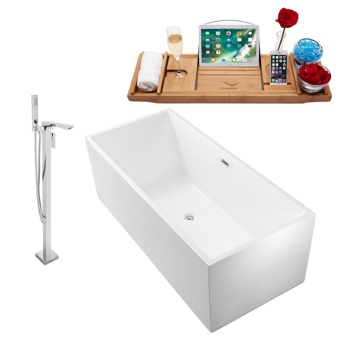 "Tub, Faucet and Tray Set Streamline 66"" Freestanding NH260-140"