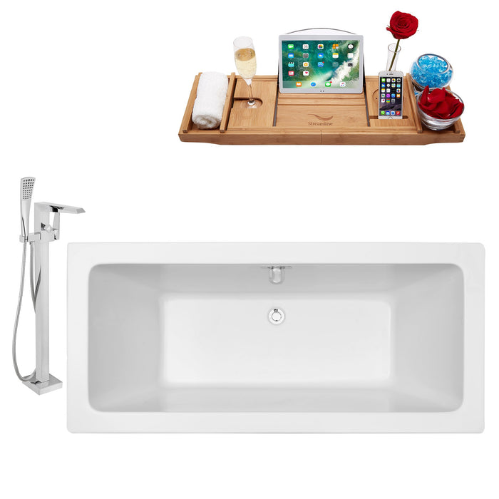 "Tub, Faucet and Tray Set Streamline 70"" Freestanding NH321-100"