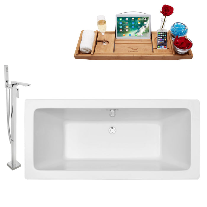 "Tub, Faucet and Tray Set Streamline 70"" Freestanding NH321-140"