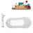 "Tub, Faucet and Tray Set Streamline 67"" Clawfoot NH340BL-CH-100"