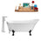 "Tub, Faucet and Tray Set Streamline 67"" Clawfoot NH340BL-CH-120"
