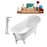 "Tub, Faucet and Tray Set Streamline 67"" Clawfoot NH340WH-CH-120"