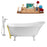 "Tub, Faucet and Tray Set Streamline 67"" Clawfoot NH340WH-GLD-100"