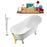 "Tub, Faucet and Tray Set Streamline 59"" Clawfoot NH341CH-GLD-140"