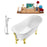 "Tub, Faucet and Tray Set Streamline 59"" Clawfoot NH341GLD-GLD-100"