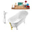 "Tub, Faucet and Tray Set Streamline 59"" Clawfoot NH341WH-GLD-100"