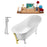 "Tub, Faucet and Tray Set Streamline 59"" Clawfoot NH341WH-GLD-120"