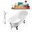"Tub, Faucet and Tray Set Streamline 63"" Clawfoot NH342BL-CH-100"
