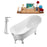 "Tub, Faucet and Tray Set Streamline 63"" Clawfoot NH342CH-CH-120"
