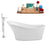 "Tub, Faucet and Tray Set Streamline 63"" Freestanding NH460-140"