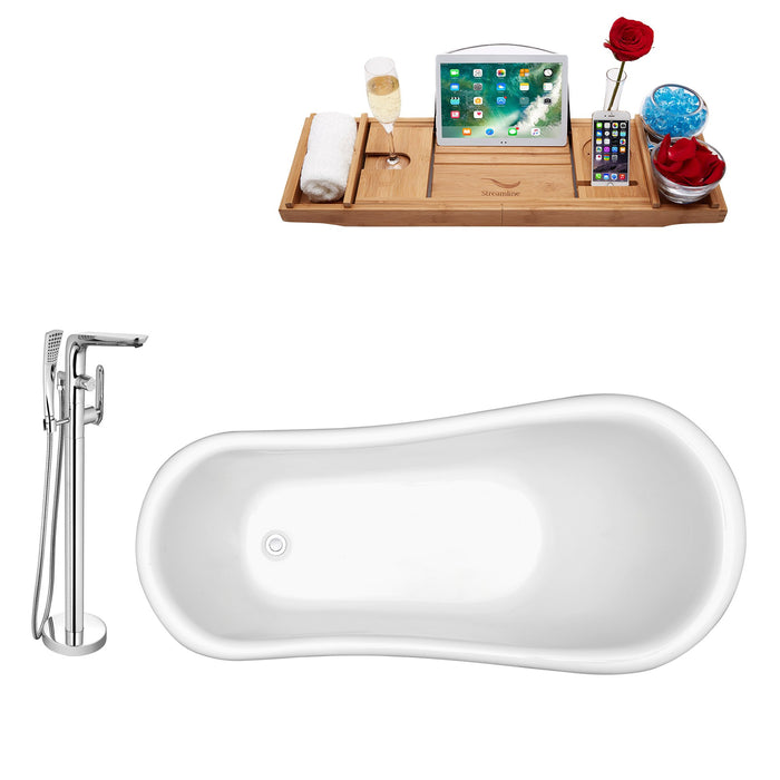 "Tub, Faucet and Tray Set Streamline 61"" Clawfoot NH480BL-120"
