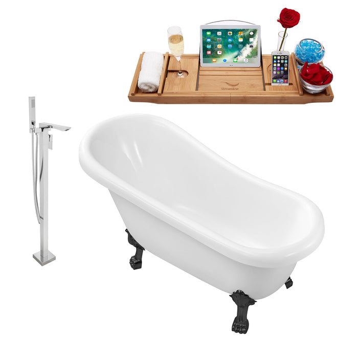 "Tub, Faucet and Tray Set Streamline 61"" Clawfoot NH480BL-140"