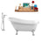 "Tub, Faucet and Tray Set Streamline 61"" Clawfoot NH480CH-100"