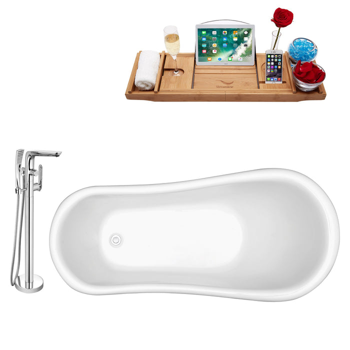 "Tub, Faucet and Tray Set Streamline 61"" Clawfoot NH480WH-120"