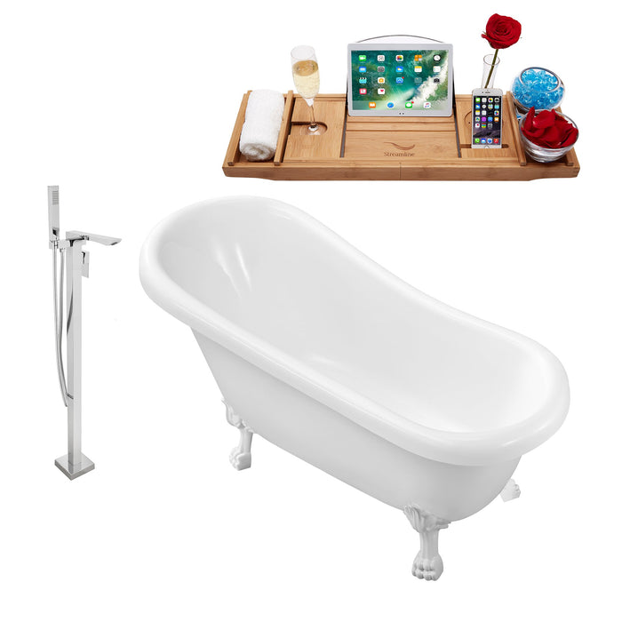 "Tub, Faucet and Tray Set Streamline 61"" Clawfoot NH480WH-140"