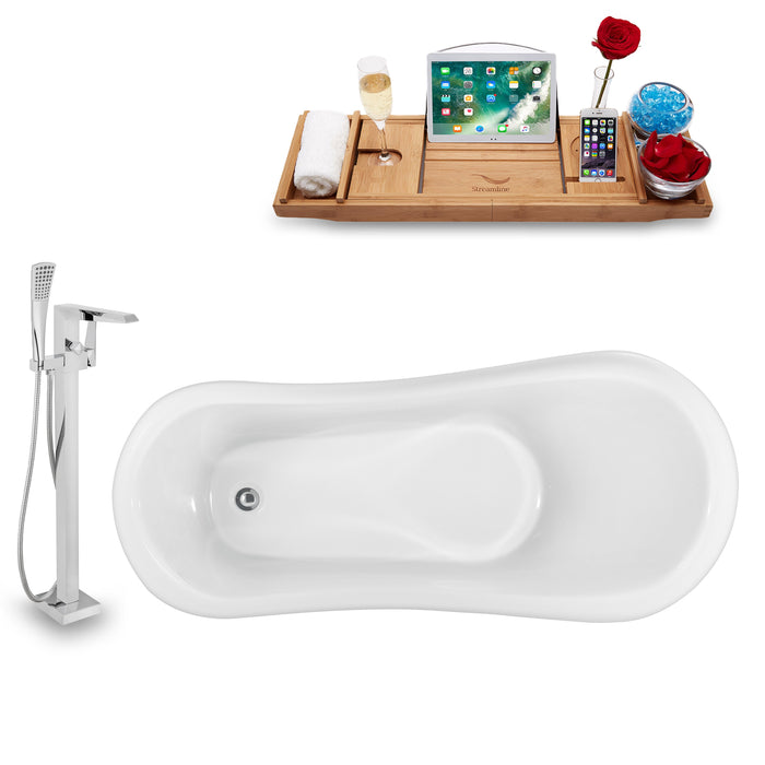 "Tub, Faucet and Tray Set Streamline 61"" Clawfoot NH481BL-100"