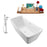"Tub, Faucet and Tray Set Streamline 67"" Freestanding NH541-100"