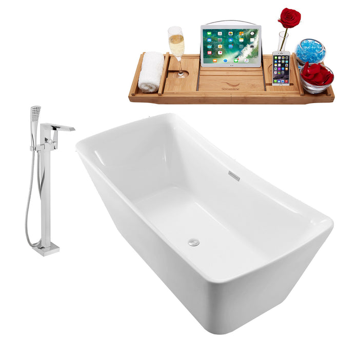 "Tub, Faucet and Tray Set Streamline 70"" Freestanding NH542-100"