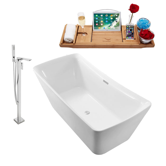 "Tub, Faucet and Tray Set Streamline 70"" Freestanding NH542-140"