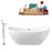 "Tub, Faucet and Tray Set Streamline 66"" Freestanding NH581-140"