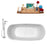 "Tub, Faucet and Tray Set Streamline 67"" Freestanding NH661-100"