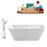 "Tub, Faucet and Tray Set Streamline 67"" Freestanding NH681-100"