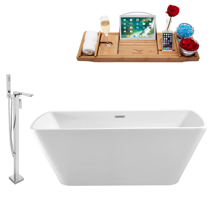 "Tub, Faucet and Tray Set Streamline 67"" Freestanding NH681-140"