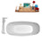 "Tub, Faucet and Tray Set Streamline 67"" Freestanding NH702-140"