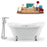 "Tub, Faucet and Tray Set Streamline 60"" Clawfoot NH900CH-CH-120"