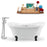 "Tub, Faucet and Tray Set Streamline 68"" Clawfoot NH901BL-CH-120"