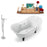 "Tub, Faucet and Tray Set Streamline 68"" Clawfoot NH901BL-CH-140"