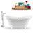 "Tub, Faucet and Tray Set Streamline 60"" Clawfoot NH920WH-GLD-100"