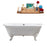 "69"" Cast Iron R5001WH-CH Soaking Clawfoot Tub and Tray with External Drain"