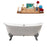 "72"" Cast Iron R5020CH-CH Soaking Clawfoot Tub and Tray with External Drain"