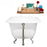 "66"" Cast Iron R5100CH-BNK Soaking Clawfoot Tub and Tray with External Drain"
