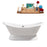 "72"" Cast Iron R5180CH Soaking freestanding Tub and Tray with External Drain"