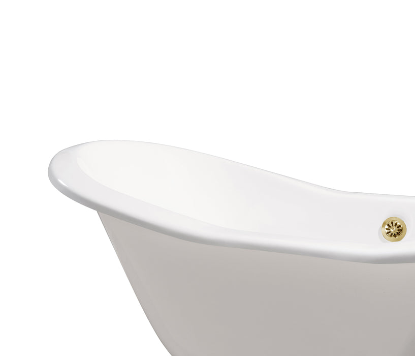 "61"" Cast Iron R5201GLD Soaking freestanding Tub and Tray with External Drain"