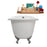"61"" Cast Iron R5221CH-CH Soaking Clawfoot Tub and Tray with External Drain"