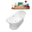 "71"" Cast Iron R5300GLD Soaking freestanding Tub and Tray with External Drain"