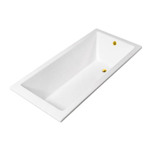 67'' Streamline Cast Iron R5520GLD Drop In Bathtub With External Drain