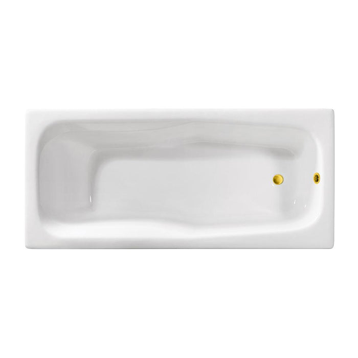 71'' Streamline Cast Iron R5540GLD Drop In Bathtub With External Drain