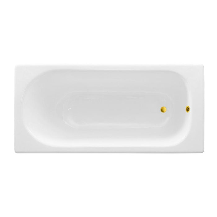 59'' Streamline Cast Iron R5560GLD Drop In Bathtub With External Drain