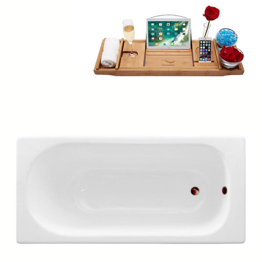 "59"" Streamline Cast Iron R5560ORB Drop In Bathtub with External Drain"
