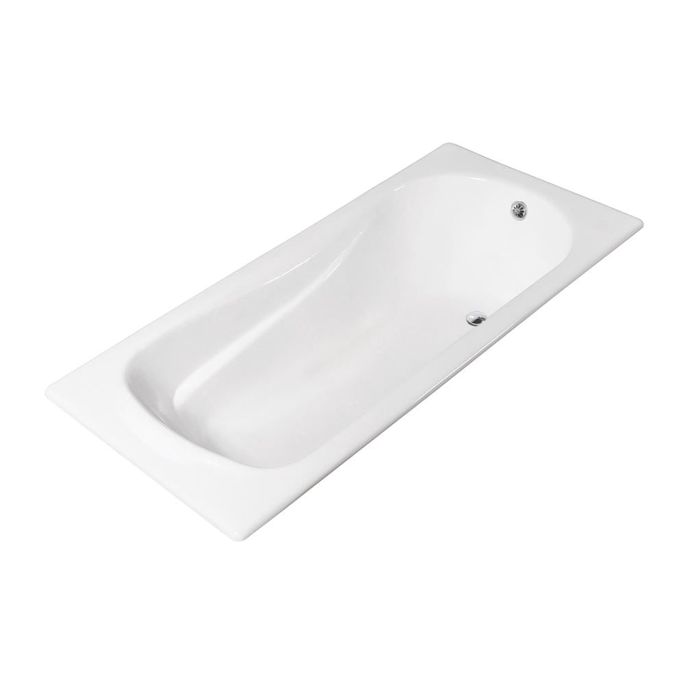 67'' Streamline Cast Iron R5621CH Drop In Bathtub With External Drain