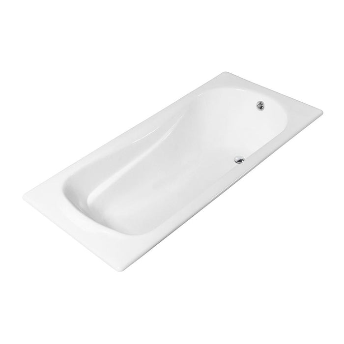 71'' Streamline Cast Iron R5622CH Drop In Bathtub With External Drain