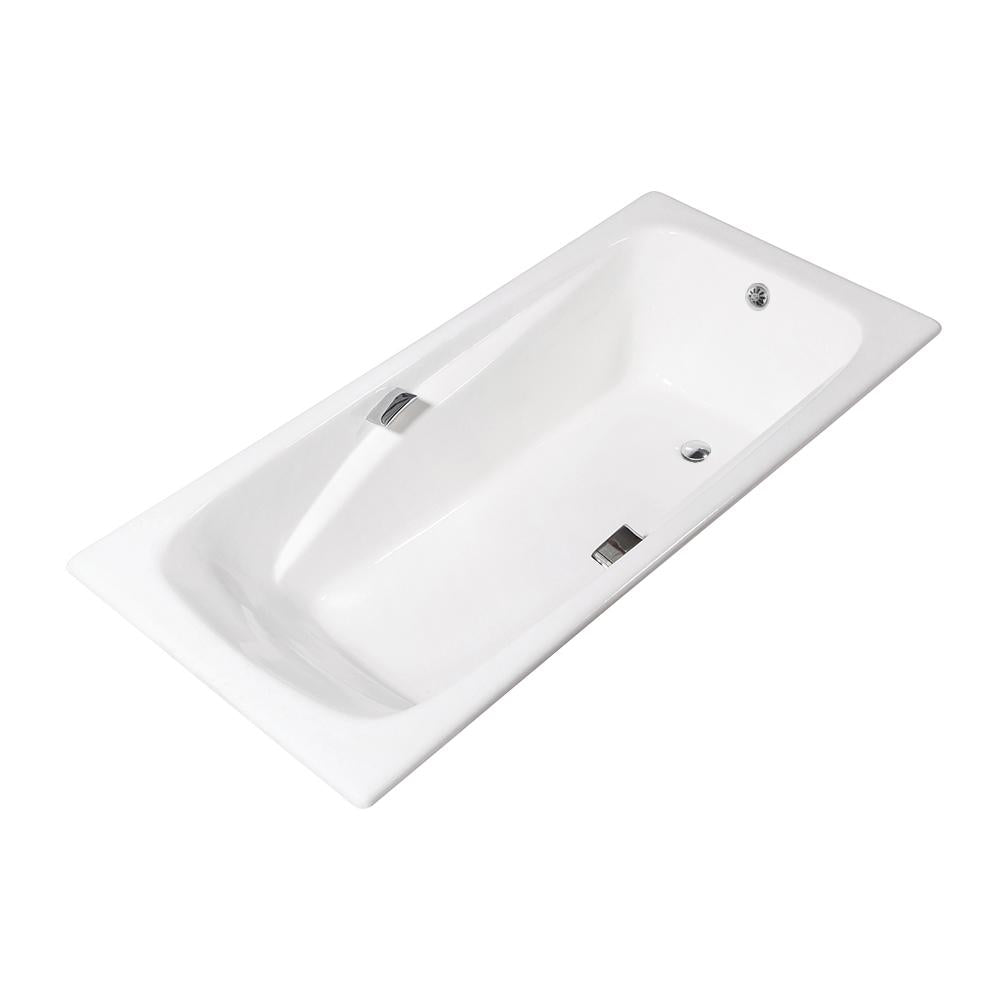 67'' Streamline Cast Iron R5640CH Drop In Bathtub With External Drain